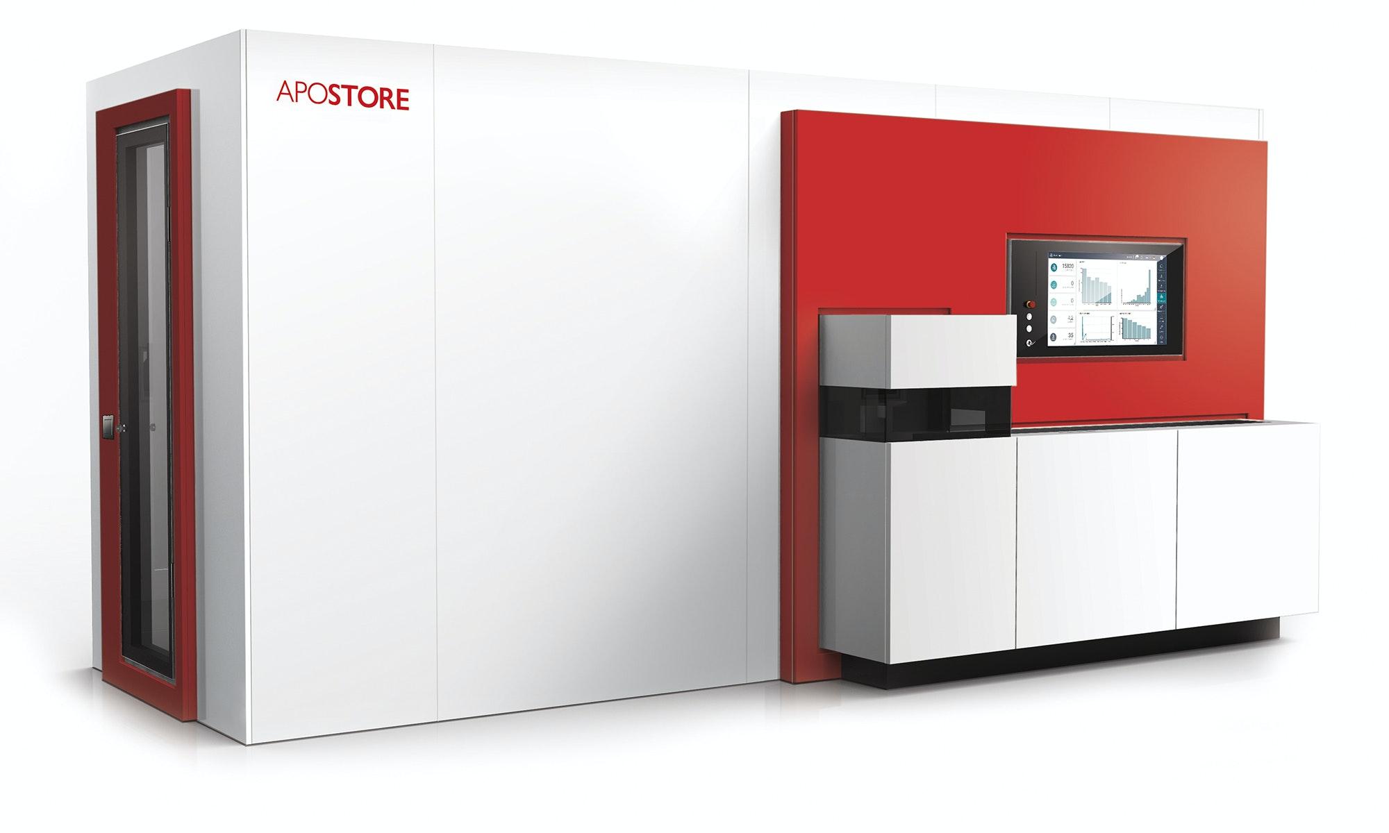 A2000 Kommissionierautomat DigitaleApotheke rot
