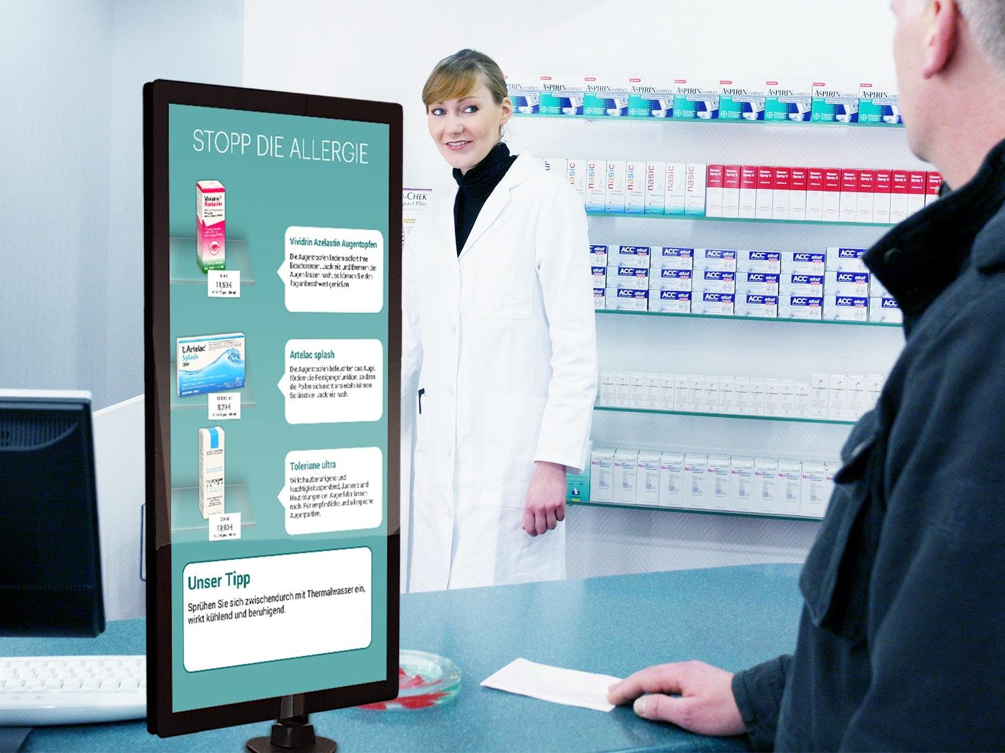 APOSTORE Digitale Loesungen HV Display Beratungssituation