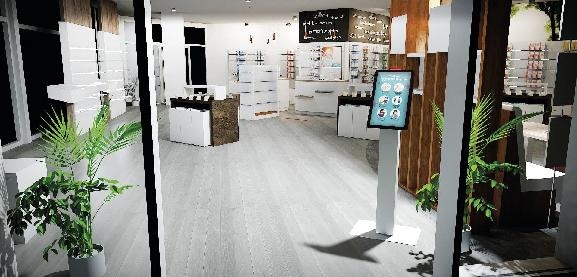 APOSTORE Zutrittskontrolle Digital Butler Eingangsbereich Apotheke