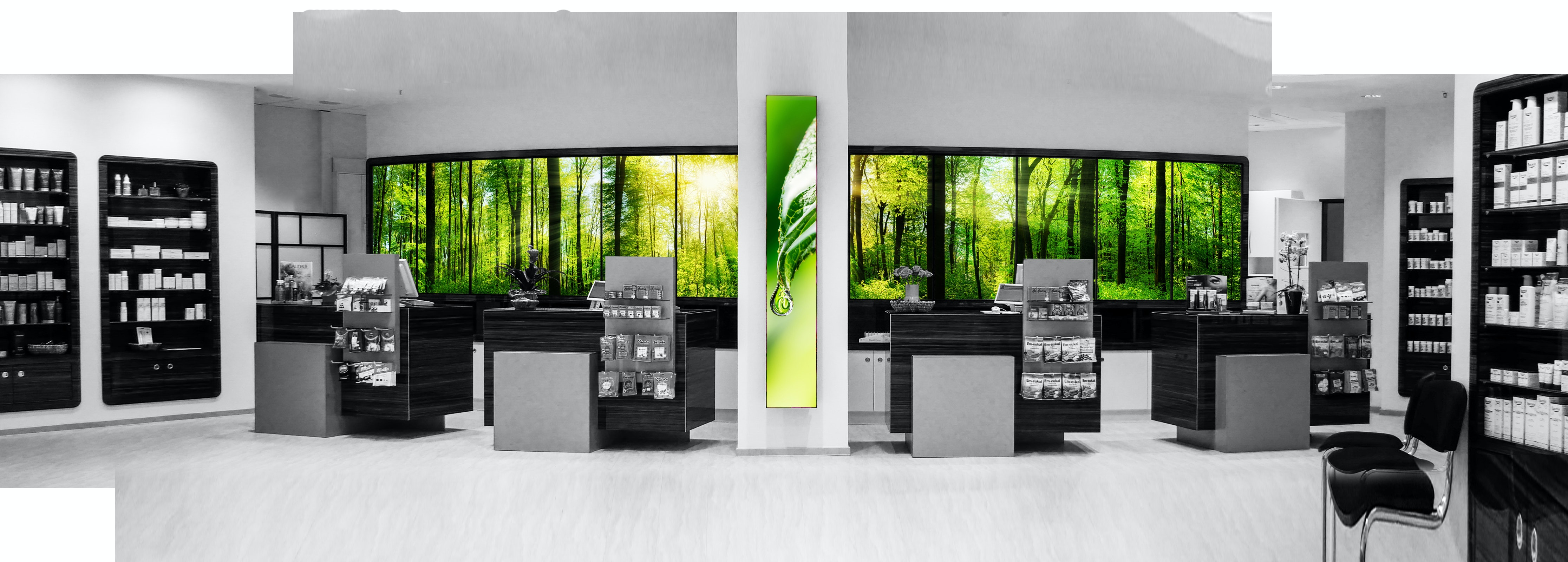Apostore Adcommander Digitale Loesungen Apotheke panorama wall wald3 hoeher