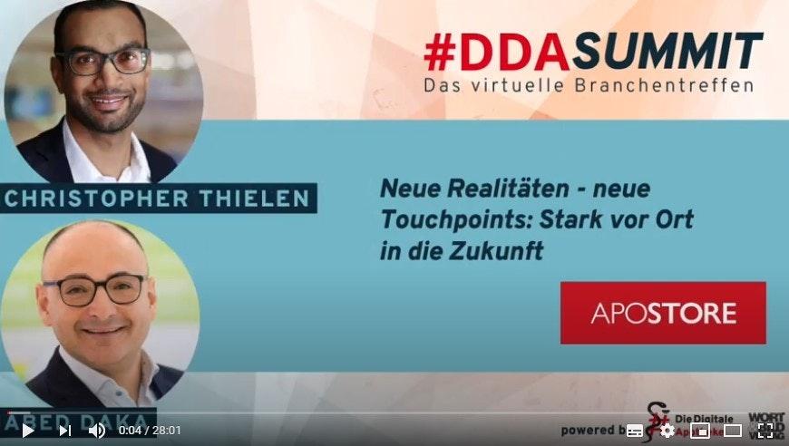 Apostore DDA Die Digitale Apotheke Summit C Hristopher Thielen Abed Daka Vortrag