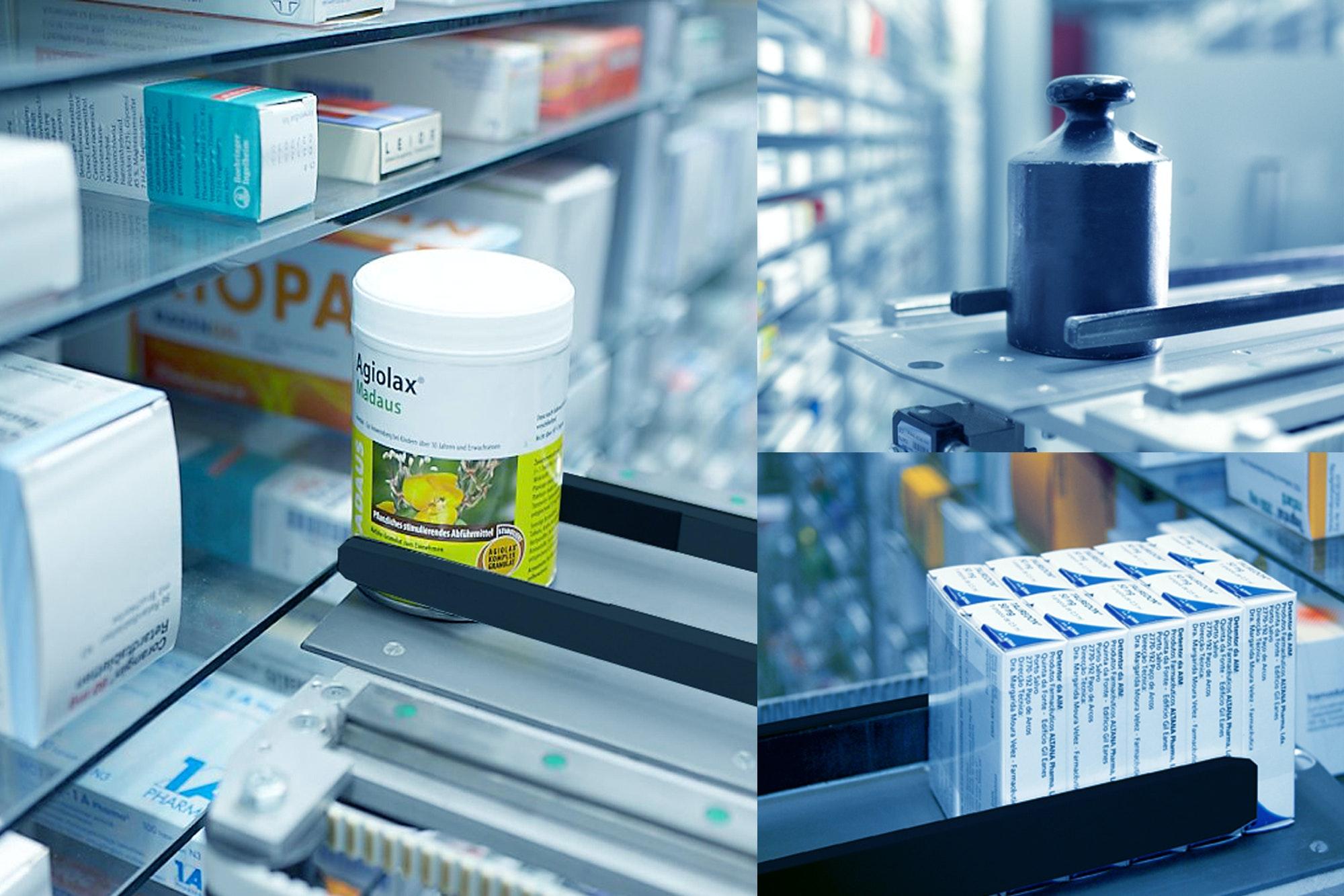 Apostore Digitale Apotheke Kommissionierautomat Greifer Gewicht Runde Verpackungen Buendelpackungen MG 2185 1