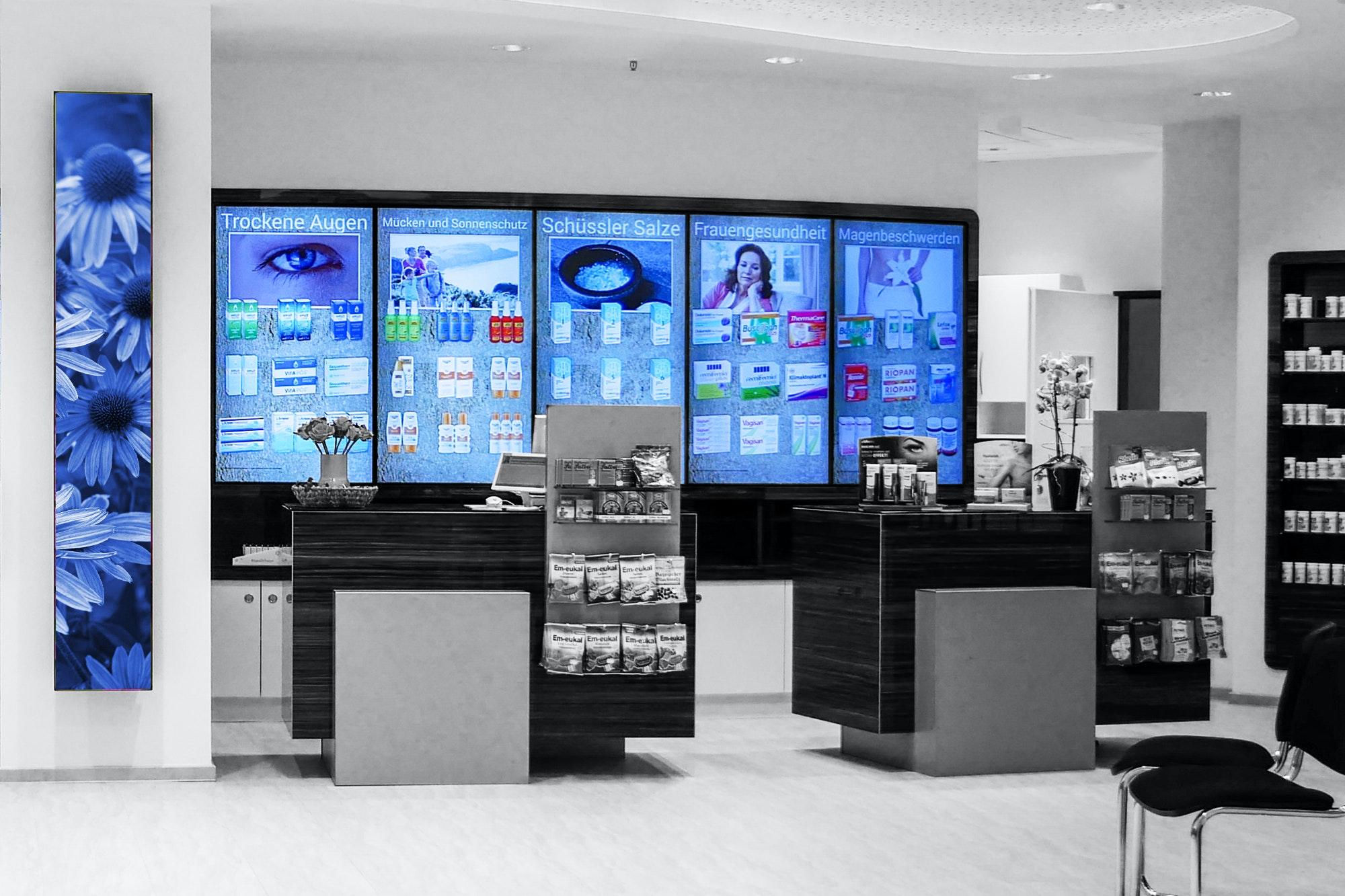 Apostore Digitale Loesungen Screens apotheke panorama wall Produkte Sichwahl EDIT BR