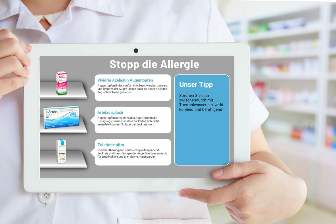 Apostore Apotheke Digitale Loesungen Screens iPad Tablet Mobil Beartung diskret