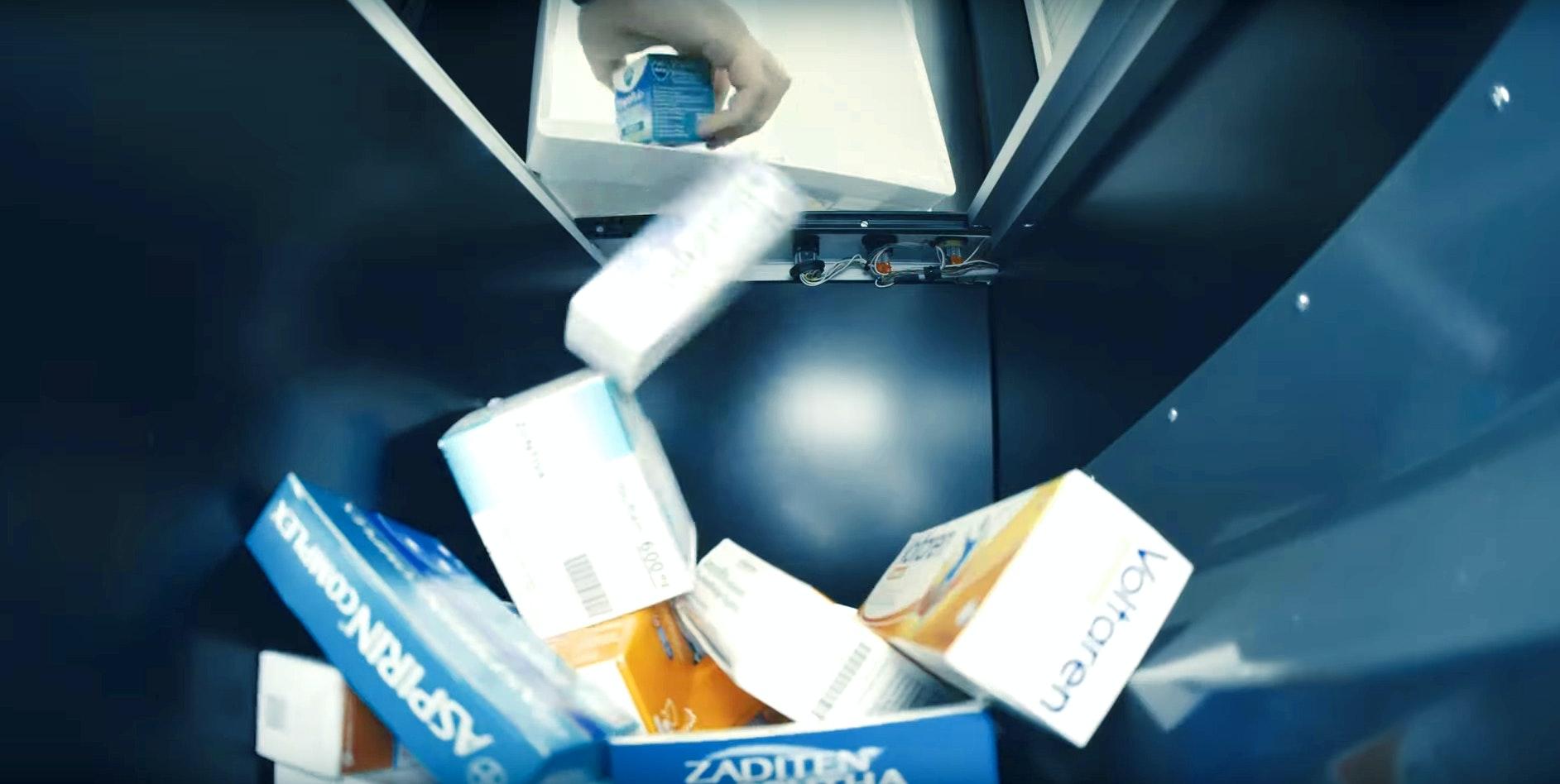 Apostore Kommisionierautomaten Erweiterung Feeder Einlagerung Grosshandelsbox Auskippen Video Prescreen