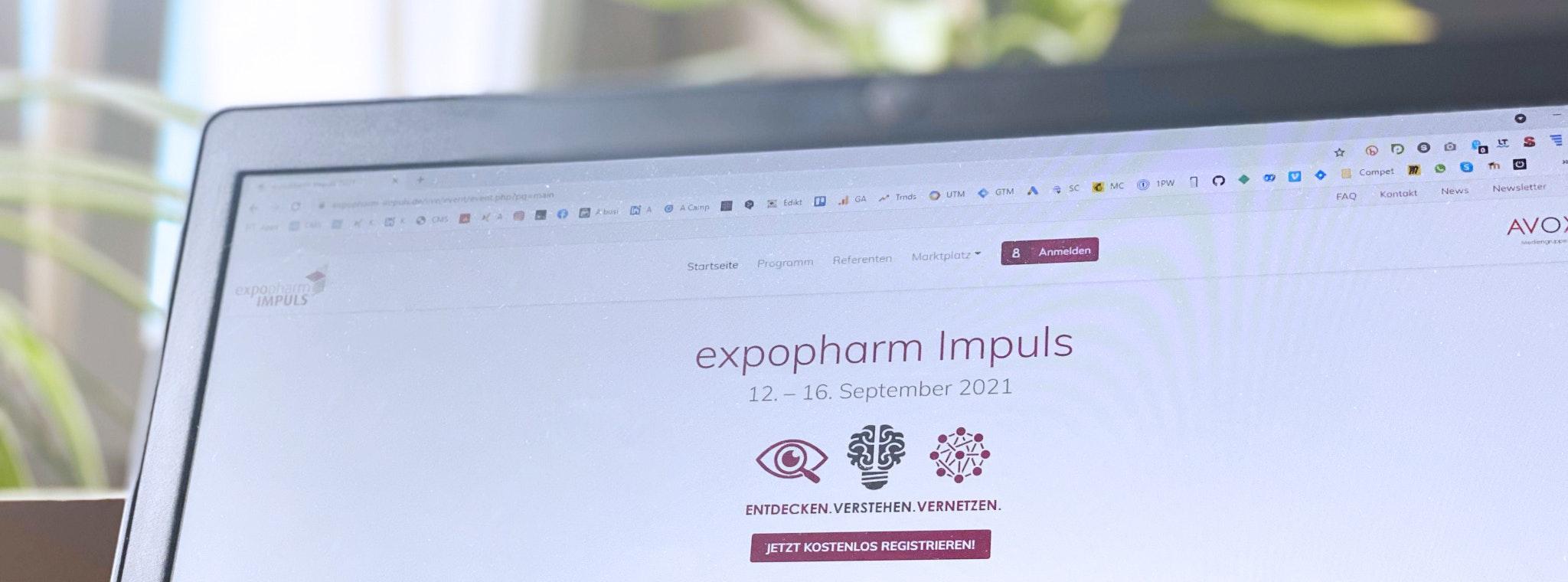 Knapp Smart Solutions Apostore Digitale Apotheke Automation expopharm Impuls2021 Screen Laptop 2