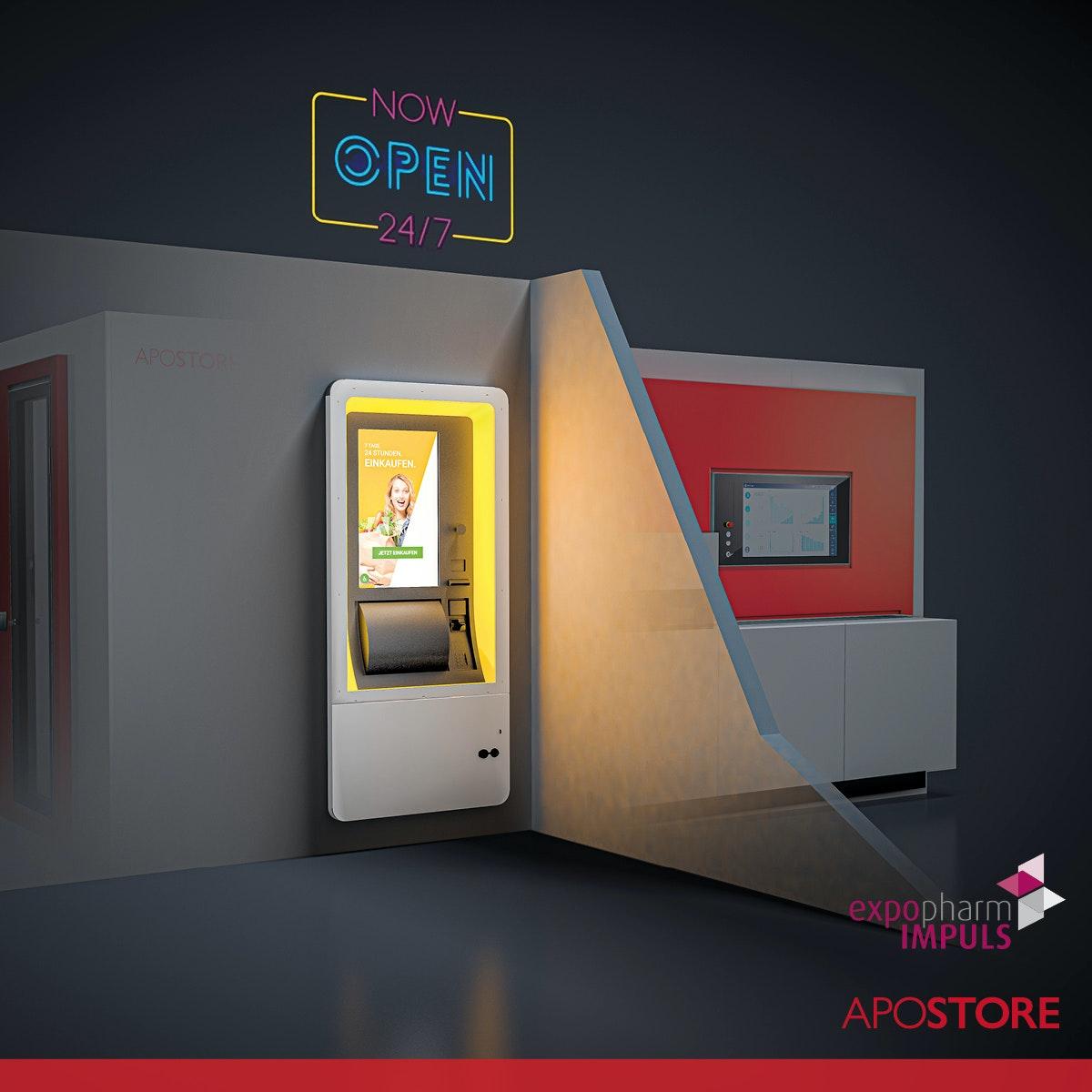 V1 202108 Apostore Kommissionierautomaten Digitale Apotheke expopharm Impuls 2021 24 7 Terminal 1zu1 A