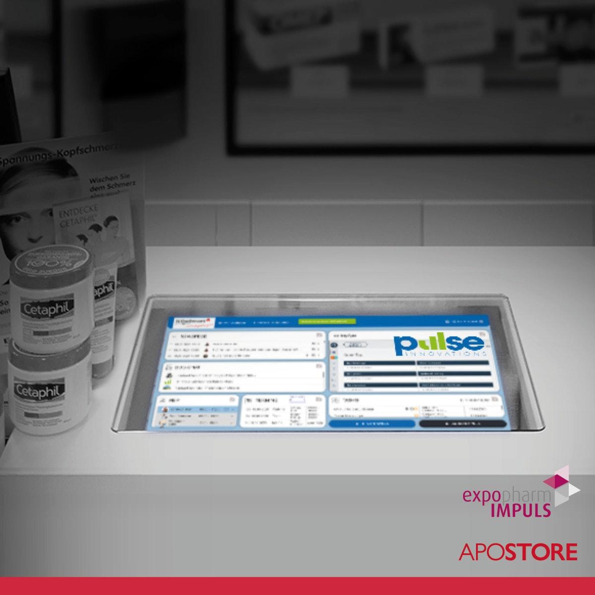 V1 202108 Apostore Kommissionierautomaten Digitale Apotheke expopharm Impuls 2021 Pulse Screen Dashboard
